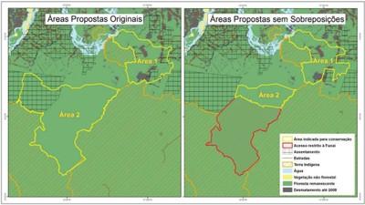 figura3.3 - Risco de Desmatamento Associado à Hidrelétrica de Belo Monte