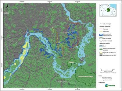 figura4.10 - Risco de Desmatamento Associado à Hidrelétrica de Belo Monte