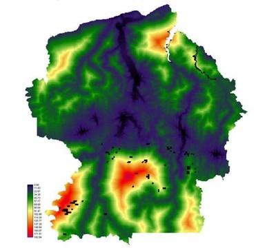 figura4.6 - Risco de Desmatamento Associado à Hidrelétrica de Belo Monte