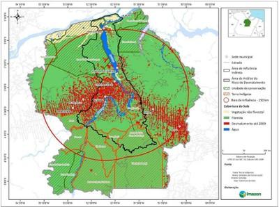 figura41.1 - Risco de Desmatamento Associado à Hidrelétrica de Belo Monte