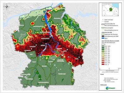 figura5.2 - Risco de Desmatamento Associado à Hidrelétrica de Belo Monte