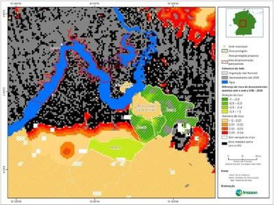 figura5.8 - Risco de Desmatamento Associado à Hidrelétrica de Belo Monte