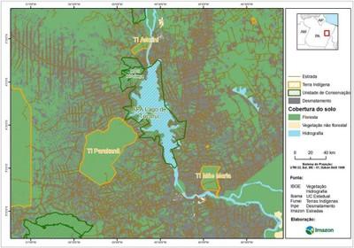 figura6.1 - Risco de Desmatamento Associado à Hidrelétrica de Belo Monte