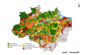 mapa1 300x193 - O Aumento no Desmatamento na Amazônia em 2013: um ponto fora da curva ou fora de controle?