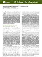 o programa mais ambiente e a regularizacao - O Programa Mais Ambiente e a regularização ambiental na Amazônia