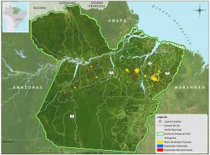Exploracao ilegal Para Imazon 300x222 - Exploração autorizada (manejo florestal) e não autorizada (predatória e ilegal) de madeira no Estado do Pará entre agosto/2011 e julho/2012.
