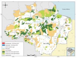 mar figura2 300x225 - Boletim do Desmatamento (SAD) Março de 2011