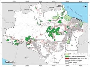 UCsCriticas fig01 300x223 - Áreas Protegidas Críticas na Amazônia no período de 2012 a 2014