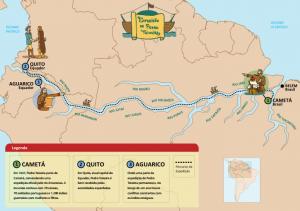 mapa viagem 300x211 - A floresta habitada: História da ocupação humana na Amazônia