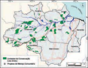 fig 2 distribuicao 300x233 - Manejo Florestal Comunitário: processos e aprendizagens na Amazônia brasileira e na América Latina