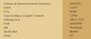 quad 5 instituicoes 300x129 - Manejo Florestal Comunitário: processos e aprendizagens na Amazônia brasileira e na América Latina