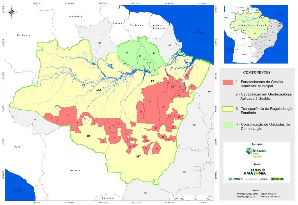 FAM COMPONENTES2 1024x707 - Fortalecimento da Gestão Ambiental na Amazônia