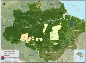 mapa sad munic critico 04 2016 bioma 300x222 - Boletim do desmatamento da Amazônia Legal (abril de 2016) SAD