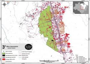 fig 13 UCS+Desm 300x212 - Unidades de Conservação mais desmatadas da Amazônia Legal (2012-2015)