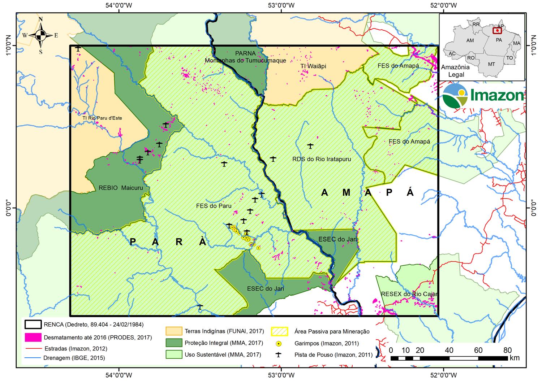 Figura 2 Renca - Nota Reserva Nacional do Cobre e seus Associados (RENCA) e as Áreas Protegidas