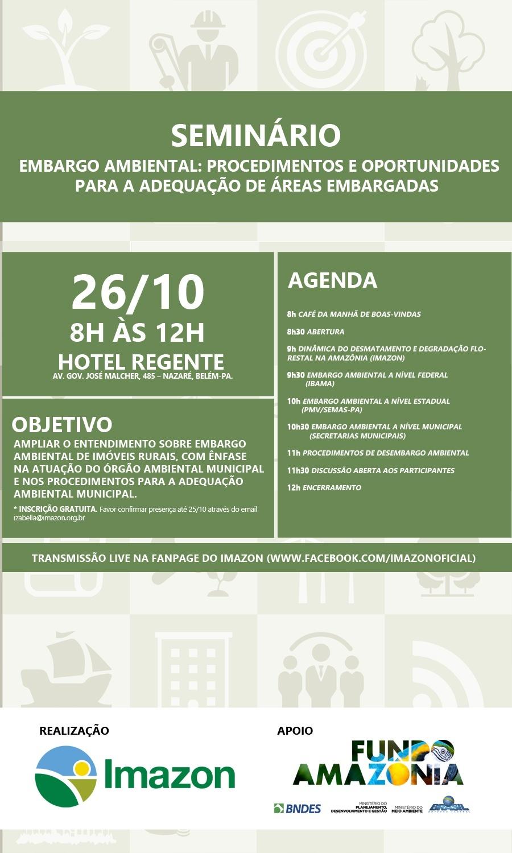 Folder Gestao ambiental site - Imazon promove seminário sobre Embargo Ambiental