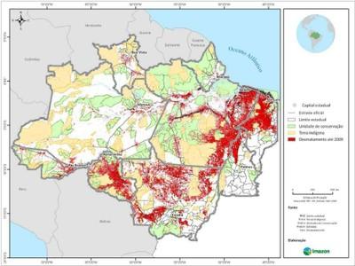 figura1.1 - Risco de Desmatamento Associado à Hidrelétrica de Belo Monte