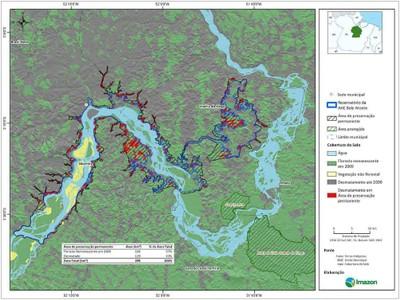 figura3.2 - Risco de Desmatamento Associado à Hidrelétrica de Belo Monte