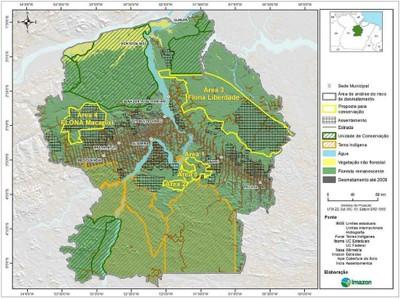 figura3.4 - Risco de Desmatamento Associado à Hidrelétrica de Belo Monte