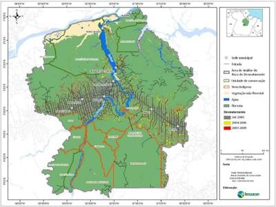 figura4.2 - Risco de Desmatamento Associado à Hidrelétrica de Belo Monte