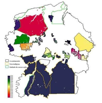 figura4.8 - Risco de Desmatamento Associado à Hidrelétrica de Belo Monte