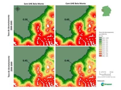 figura5.1 - Risco de Desmatamento Associado à Hidrelétrica de Belo Monte