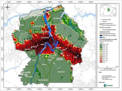 figura5.3 - Risco de Desmatamento Associado à Hidrelétrica de Belo Monte