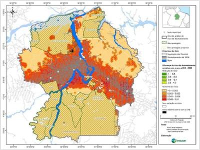 figura5.4 - Risco de Desmatamento Associado à Hidrelétrica de Belo Monte