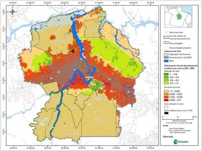 figura5.5 - Risco de Desmatamento Associado à Hidrelétrica de Belo Monte