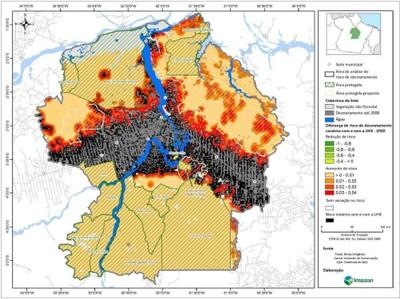 figura5.6 - Risco de Desmatamento Associado à Hidrelétrica de Belo Monte