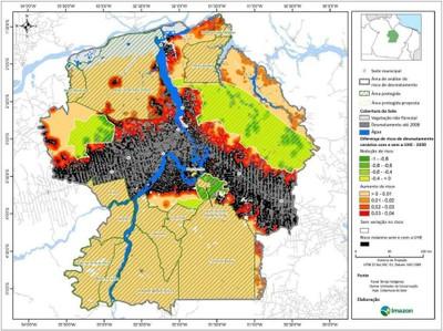 figura5.7 - Risco de Desmatamento Associado à Hidrelétrica de Belo Monte