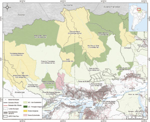 mapas areasprotegidas2 300x244 - Áreas Protegidas da Calha Norte do Estado do Pará.