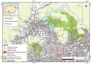 Áreas Protegidas mais desmatadas no Estado de Rondônia entre agosto de 2012 e março de 2013 (SAD).