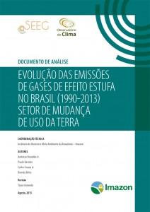 Evolucao Emissao Gases capa 212x300 - Evolução das emissões de gases de efeito estufa no Brasil (1990-2013) Setor de Mudança de Uso da Terra