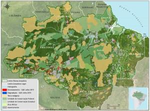 Mapa SAD desmatamento bioma 300x222 - Boletim do desmatamento da Amazônia Legal (julho de 2015) SAD