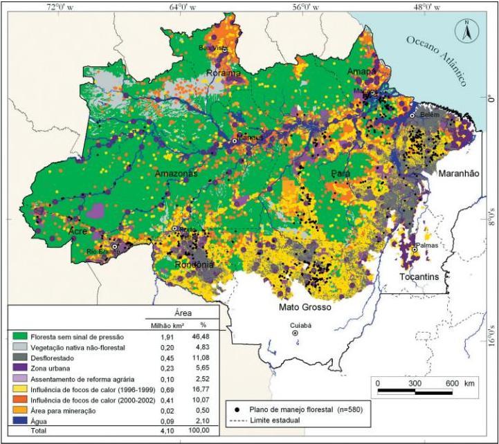 Pressão Humana Na Floresta Amazônica Brasileira Imazon