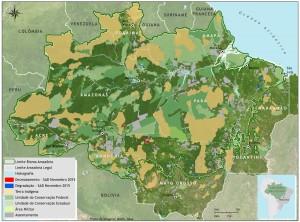 Figura 2 Desmatamento degradação novembro 1015