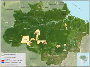 Figura 8 Municipios mais desmatados novembro 2015