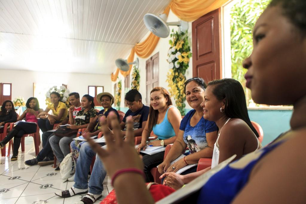 Atividade de formação de agentes ambientais na APA Ilha do Combu