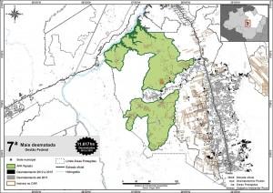 fig 25 UCS+Desm 300x212 - Unidades de Conservação mais desmatadas da Amazônia Legal (2012-2015)