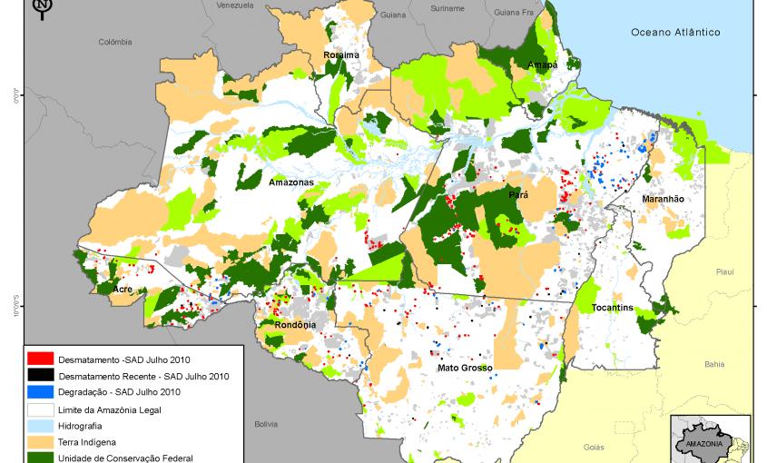 desmatamento mensal na amazonia legal 2010 julho g 1 845x510 - Desmatamento Julho 2010