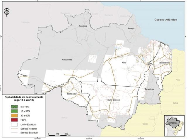 agosto 2011 julho 2012g - Boletim Risco de Desmatamento (Agosto de 2011 a Julho de 2012)