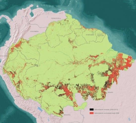 Desmatamento 1970 2013 - Desmatamento na Amazônia (1970-2013)