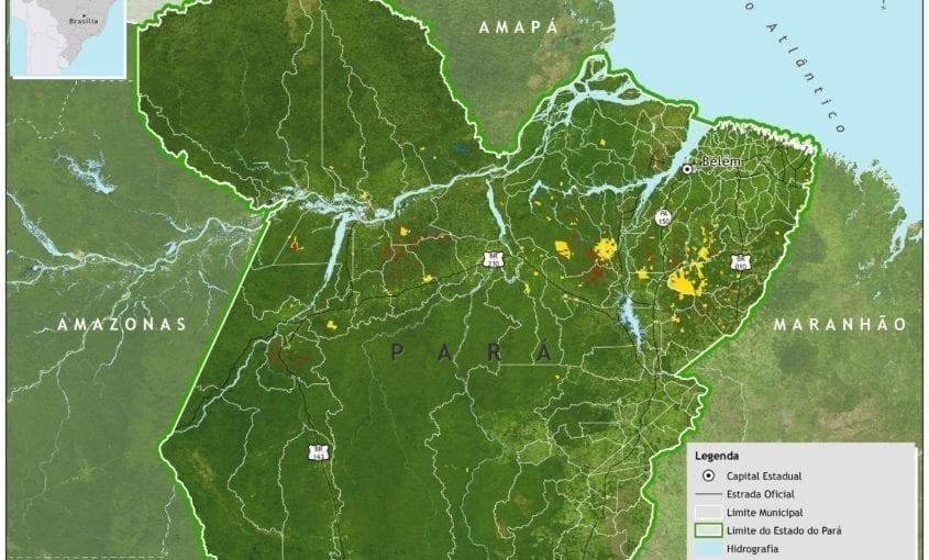 Exploracao ilegal Para Imazon 845x510 - Exploração autorizada (manejo florestal) e não autorizada (predatória e ilegal) de madeira no Estado do Pará entre agosto/2011 e julho/2012.