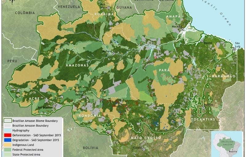 Map SAD september 2015 800x510 - Deforestation report for the Brazilian Amazon (September 2015) SAD