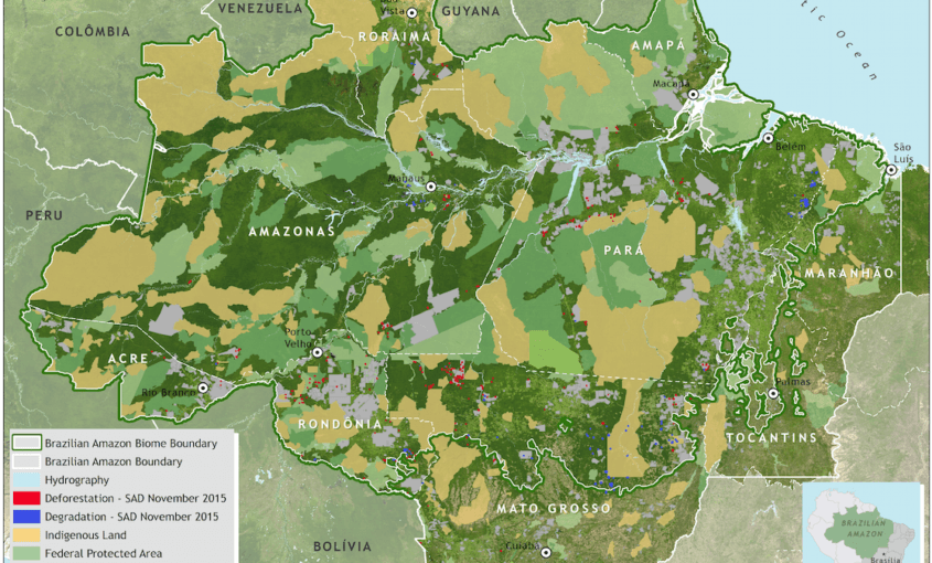 SAD november 845x510 - Deforestation report for the Brazilian Amazon (November 2015) SAD
