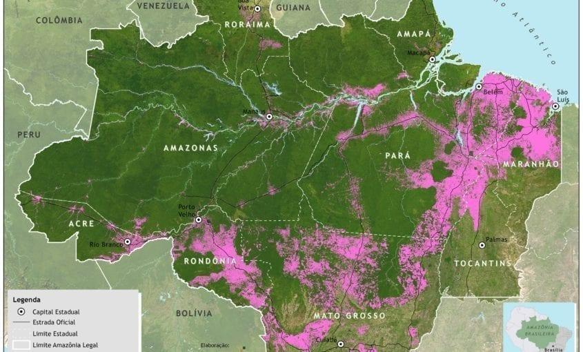 desmatamento 2007 prodes 350dpi1 845x510 - Desmatamento na Amazônia Legal até 2007