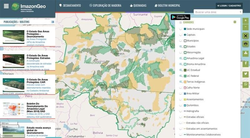 ImazonGeo - Novo ImazonGeo: maior acesso à informação para a fiscalização do desmatamento