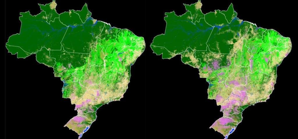 MapBiomas mapa 1024x480 - Projeto MapBiomas mapeia três décadas de mudanças na ocupação territorial do Brasil