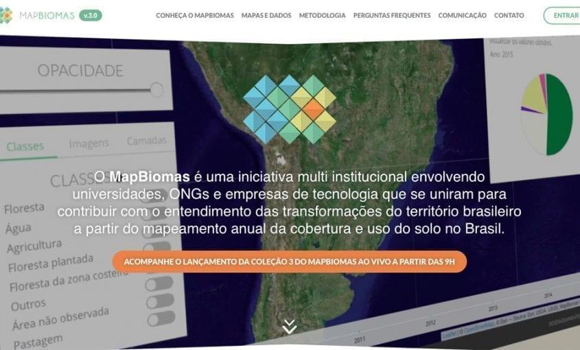 MapBiomas site 845x510 - Projeto MapBiomas mapeia três décadas de mudanças na ocupação territorial do Brasil